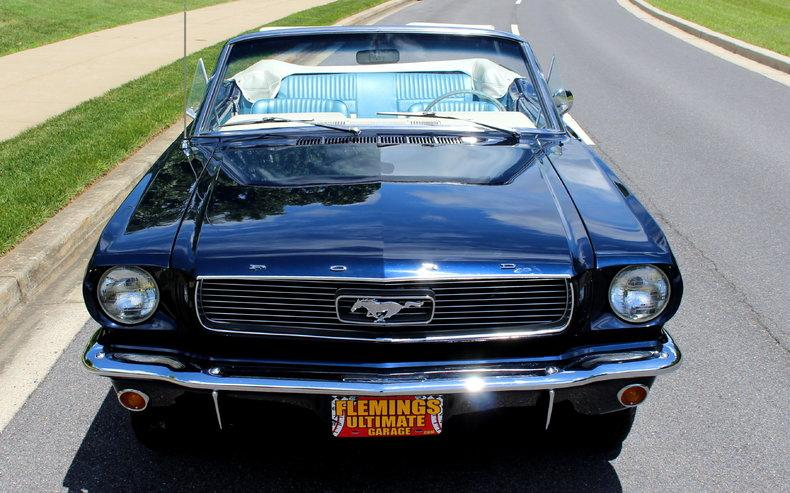 White 1966 Mustang Convertible With Blue Pony Interior 1966 Ford Mustang GT