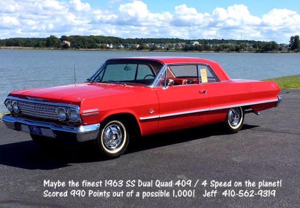 1963 Chevrolet Impala SS 409 Dual Quad # Matching