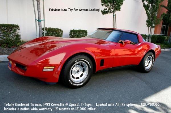 1981 Chevrolet Corvette - Restored - Warranty!